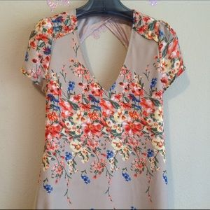 A' back women floral top with open back, S/M